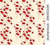 watercolor poppies pattern | Shutterstock . vector #396452104