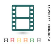 set of  blue video vector icon