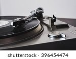 analog turntable playing record. | Shutterstock . vector #396454474