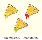 tortilla chips with dips  ... | Shutterstock .eps vector #396458395