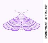 hand drawn zentangle sketch of... | Shutterstock .eps vector #396458509