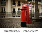 Telephone Box And Mail Box In...