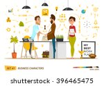 business cartoon characters... | Shutterstock .eps vector #396465475