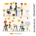 business cartoon characters... | Shutterstock .eps vector #396465487