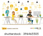 business cartoon characters... | Shutterstock .eps vector #396465505