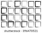 grunge square frames. vector... | Shutterstock .eps vector #396470521