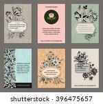 set of pastel vintage floral... | Shutterstock .eps vector #396475657