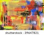 handmade abstract texture   Shutterstock . vector #39647821
