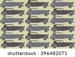 pattern with stylish retro cars ... | Shutterstock .eps vector #396482071