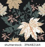 seamless pattern with autumn... | Shutterstock .eps vector #396482164