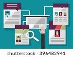 recruitment through the internet | Shutterstock .eps vector #396482941