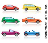 cars icons set. 6 different... | Shutterstock . vector #396483505