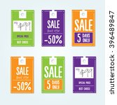 sale tags with sale messages | Shutterstock .eps vector #396489847