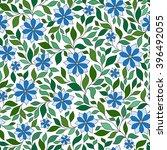 seamless vector floral pattern... | Shutterstock .eps vector #396492055