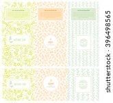 vector set of design elements... | Shutterstock .eps vector #396498565