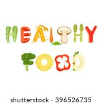 Healthy Food Lettering. Health...