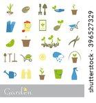 set of icons of garden | Shutterstock .eps vector #396527329