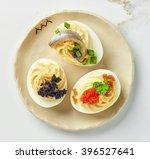 Boiled Stuffed Decorative Eggs...