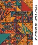 tribal ethnic seamless pattern...   Shutterstock .eps vector #396529681