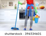 Cleaning Concept. Woman With...