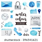 premium quality watercolor... | Shutterstock .eps vector #396541621