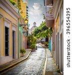 Colorful Street In Old San Jua...