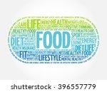 food word cloud  fitness  sport ... | Shutterstock .eps vector #396557779