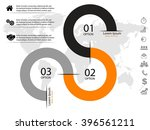 vector infographic journey with ... | Shutterstock .eps vector #396561211