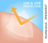 uv protection for skin   vector ... | Shutterstock .eps vector #396564547
