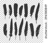 hand drawn feathers set on a... | Shutterstock .eps vector #396580849