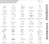 thin line tea vector interface...