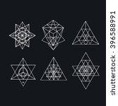 sacred geometry. alchemy ... | Shutterstock .eps vector #396588991