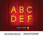 light font on stage curtain... | Shutterstock .eps vector #396593989