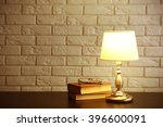 Night Lamp And Books On The...