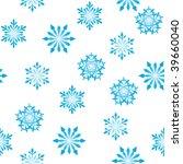 seamless vector snowflakes... | Shutterstock .eps vector #39660040