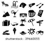 travel set of different vector... | Shutterstock .eps vector #39660055