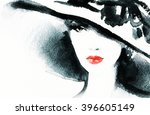 abstract fashion watercolor... | Shutterstock . vector #396605149