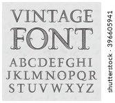 vintage patterned letters.... | Shutterstock .eps vector #396605941