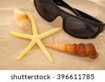 sunglasses  seastar and... | Shutterstock . vector #396611785