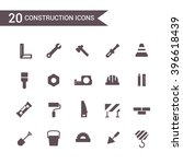 construction icon set vector.... | Shutterstock .eps vector #396618439
