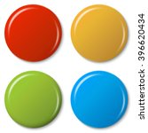 four colored magnets with... | Shutterstock .eps vector #396620434