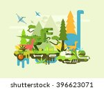 dawn of the dinosaurs | Shutterstock .eps vector #396623071