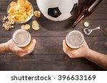 Two Glasses Of Beer In Men's...