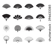 Hand Fan Icons. Collection Of...