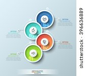 modern business circle origami... | Shutterstock .eps vector #396636889