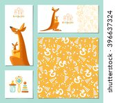set of 4 universal invitation... | Shutterstock .eps vector #396637324