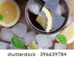 glass of cola with cubes of ice ... | Shutterstock . vector #396639784