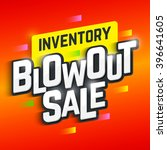 inventory blowout sale banner.... | Shutterstock .eps vector #396641605