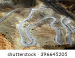 Aerial View Of Zigzag Road At...