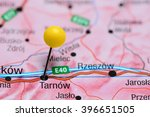 tarnow pinned on a map of...   Shutterstock . vector #396651505